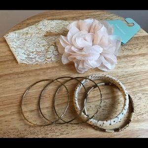Bracelets set with headband